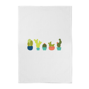 Cacti In A Row Cotton Tea Towel
