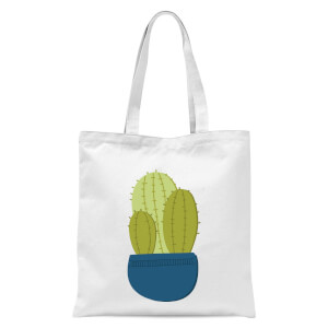 Three Potted Cacti Tote Bag - White