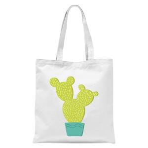 Tall Cactus Tote Bag - White