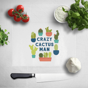 Crazy Cactus Man Chopping Board