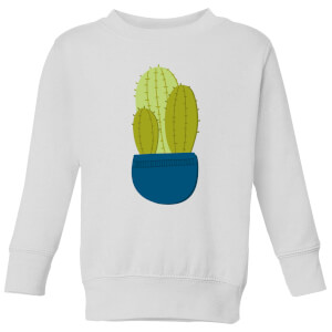 Three Potted Cacti Kids' Sweatshirt - White