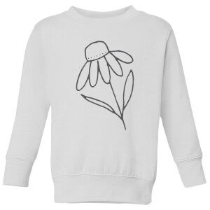 Flower Kids' Sweatshirt - White