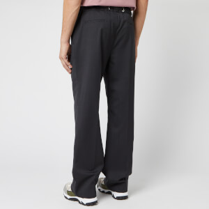 Maison Margiela Men's Two Ply Wool Popeline Pants - Anthracite