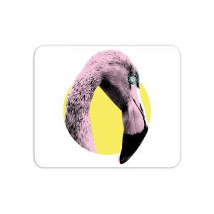 Flamingo With Circular Background Mouse Mat