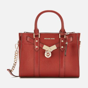 MICHAEL MICHAEL KORS Women's Nouveau Hamilton Small Satchel Bag - Brandy