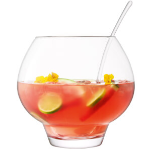 LSA International Rum Punchbowl & Ladle Clear - 27cm