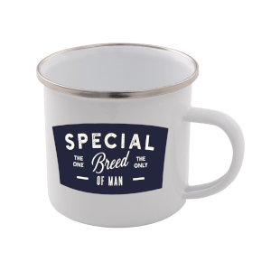 Special Breed Of Man Enamel Mug – White