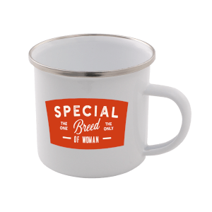 Special Breed Of Woman Enamel Mug – White
