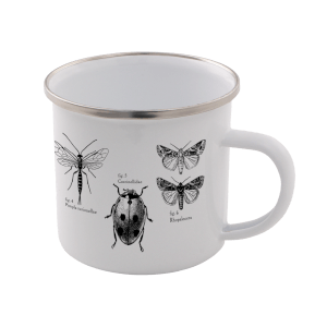 Insects Enamel Mug – White