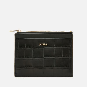 Furla Women's Babylon Small Zip Card Case - Black