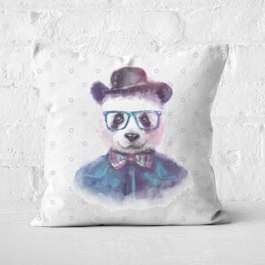 Hipster Panda Square Cushion