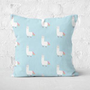 Llamacorn Pattern Square Cushion