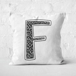 Handwritten F Square Cushion