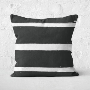 Thick Paintbrush Stroke Square Cushion
