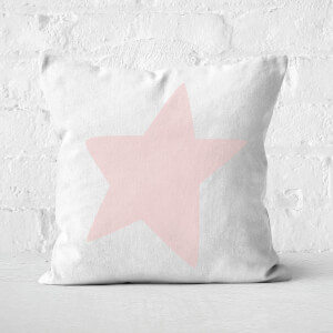 Light Pink Star Square Cushion