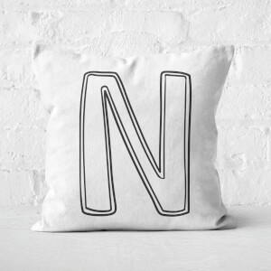 Handwritten N Square Cushion