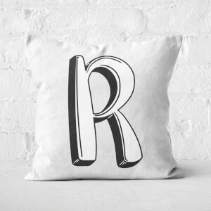 Handwritten R Square Cushion