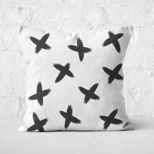Criss Cross Paintbrush Strokes Square Cushion