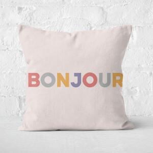 Bonjour Square Cushion
