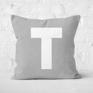Letter T Square Cushion