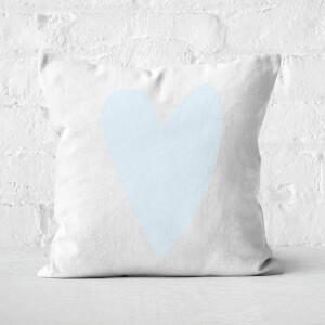 Light Blue Heart Square Cushion