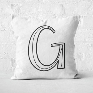 Handwritten G Square Cushion