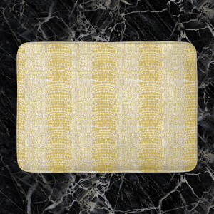 Mustard Snake Print Bath Mat
