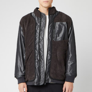 White Mountaineering Men's GORE-TEX Infinium W Stitched Quilted Boa Jacket - Charcoal