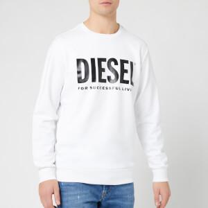 Diesel Men's Division Diesel Logo Sweatshirt - White