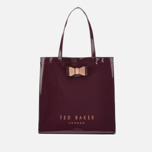 Ted Baker Women's Sofcon Bow Detail Large Icon Bag - Deep Purple