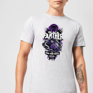 Marvel Black Panther The Royal Talon Fighter Badge Men's T-Shirt - Grey