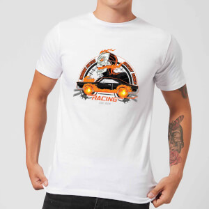 Marvel Ghost Rider Robbie Reyes Racing Men's T-Shirt - White