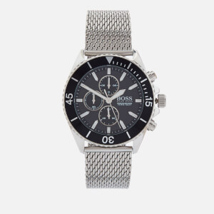 BOSS Hugo Boss Men's Ocean Edition Mesh Strap Watch - Rouge Black Silver