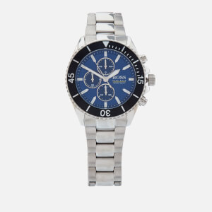 BOSS Hugo Boss Men's Ocean Edition Metal Strap Watch - Rouge Blue