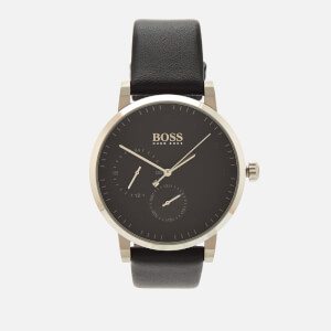 BOSS Hugo Boss Men's Oxygen Leather Strap Watch - Rouge Black