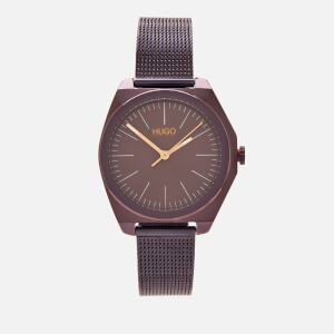 HUGO Women's Imagine Mesh Strap Watch - Aubergine