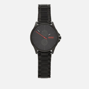 HUGO Men's Jump Metal Strap Watch - Rou Black