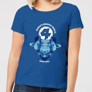 Marvel Fantastic Four Fantasticar Women's T-Shirt - Royal Blue