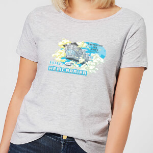 Marvel S.H.I.E.L.D. Helicarrier Mobile HQ Women's T-Shirt - Grey