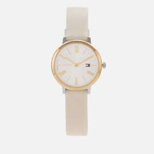 Tommy Hilfiger Women's Project Z Leather Strap Watch - Rou White