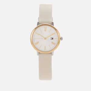 Tommy Hilfiger Women's Project Z Leather Strap Watch - Rou White