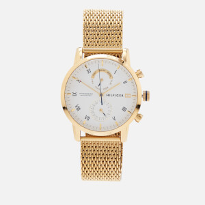 Tommy Hilfiger Men's Kane Mesh Strap Watch - Gold