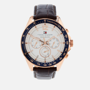 Tommy Hilfiger Men's Luke Leather Strap Watch - Brown