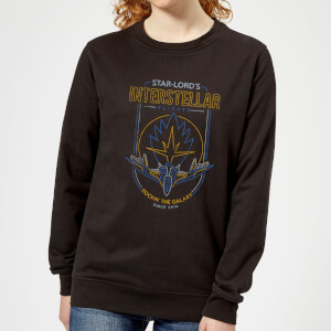 Marvel Guardians Of The Galaxy Interstellar Flights Women's Sweatshirt - Black