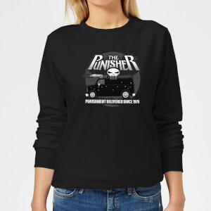 Marvel The Punisher Battle Van Women's Sweatshirt - Black