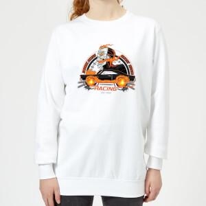 Marvel Ghost Rider Robbie Reyes Racing Women's Sweatshirt - White