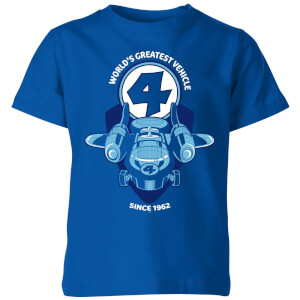 Marvel Fantastic Four Fantasticar Kids' T-Shirt - Royal Blue
