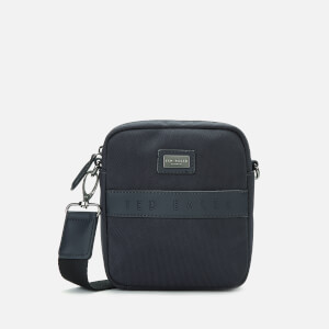 Ted Baker Men's Lillo Branded Nylon Mini Flight Bag - Navy