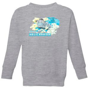 Marvel S.H.I.E.L.D. Helicarrier Mobile HQ Kids' Sweatshirt - Grey