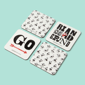 Monopoly Rise And Grind Coaster Set